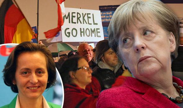 Angela Merkel - Protest in Germany