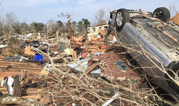 Georgia suffered tornado
