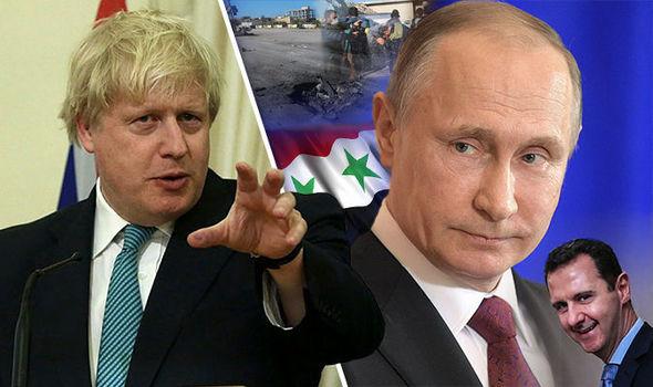 Boris Johnson, Vladimir Putin, Bashar Assad