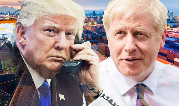 Boris Johnson and Donald Trump have discussed trade ties with each other