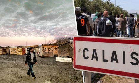 Jungle bewoners verbergen zich in Noord-Frankrijk