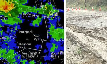 HD Decor Images » California storm mudslide  Highway closed after heavy rain in Malibu     California weather map and Malibu mudslide
