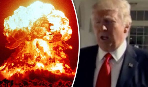 Nuclear explosion Donald Trump