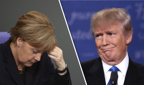 Donald Trump Angela Merkel