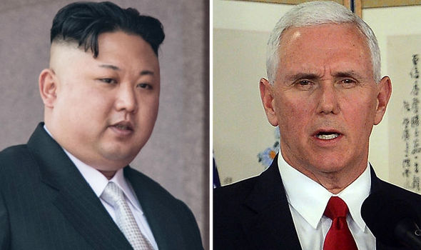 Kim Jong-un and Mike Pence