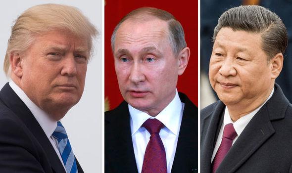 Donald Trump, Vladimir Putin, Xi Jinping