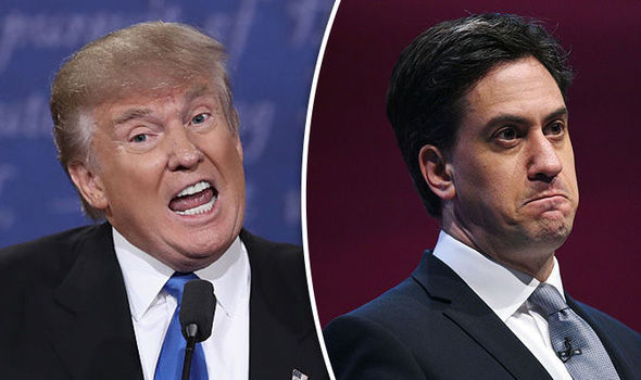 Donald Trump and Ed Miliband