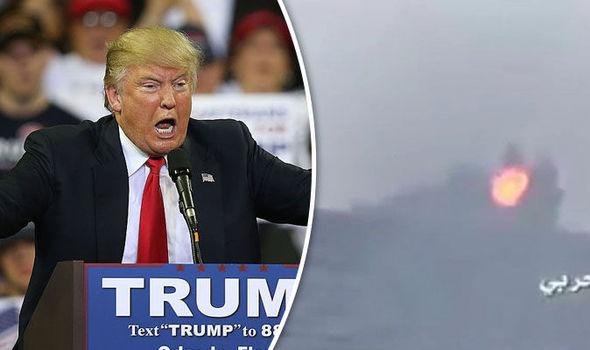 Donald Trump and Saudi warship explosion