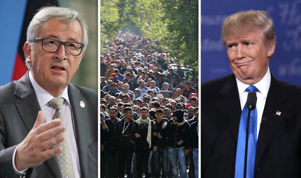 Donald Trump has criticised the EU's migrant policy and vows he won't allow the US to do the same