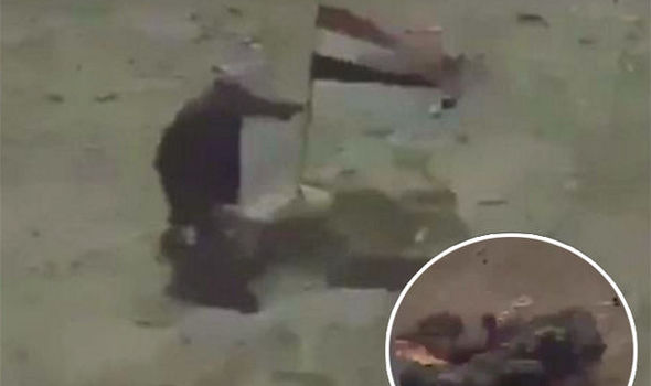Footage from the strike that killed an ISIS jihadi