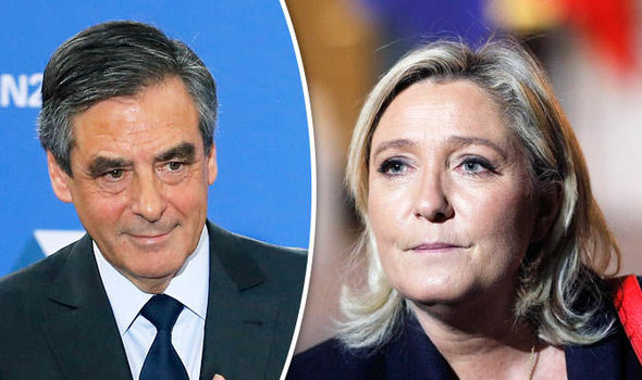 Francois Fillon and Marine Le Pen