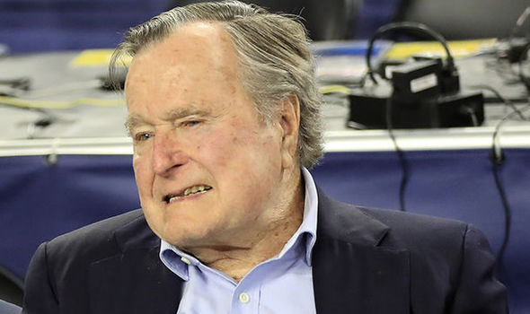 George HW Bush readmitted to hospital