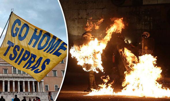 Greece austerity protest violence