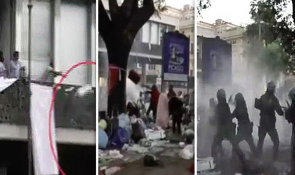 Image result for migrants riot in rome