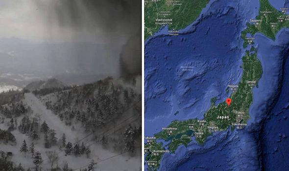 Bildergebnisse für Mount Kusatsu-Shirane bricht aus