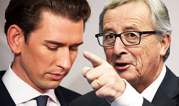 Jean-Claude Juncker and Sebastian Kurz