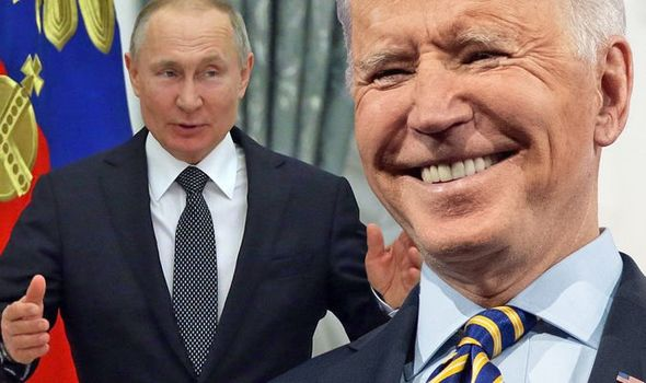 Joe Biden: The President previously appeared to extend an olive branch to Vladmir Putin