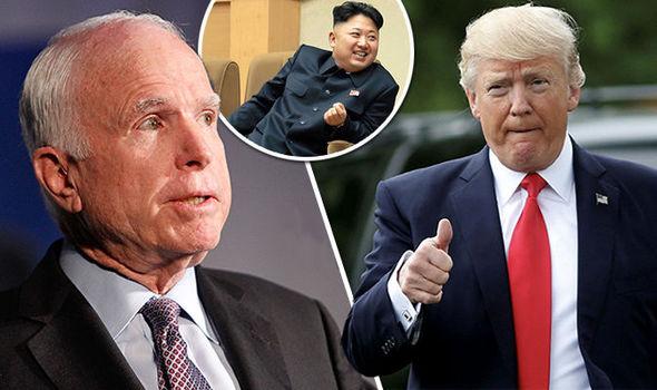 John McCain, Kim Jong-un and Donald Trump