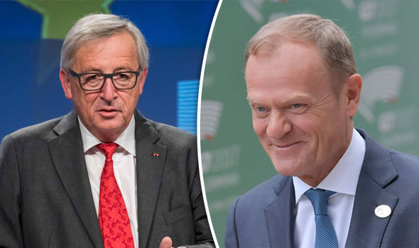 Jean-Claude Juncker and Donald Tusk boasted the EU is stable at the G7 summit
