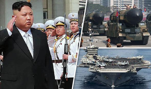 Kim Jong-un and USS Carl Vinson