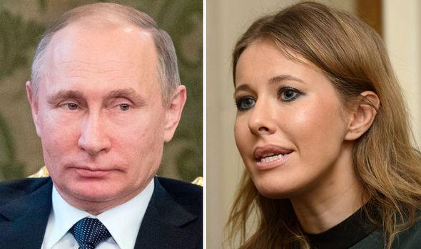 Vladimir Putin and Ksenia Sobchak