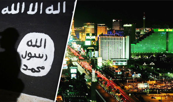 Las Vegas and ISIS flag