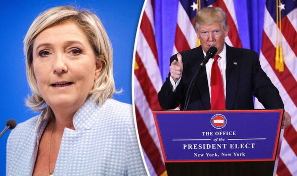 Marine Le Pen and Donald Trump