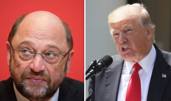 Martin Schulz and President Trump