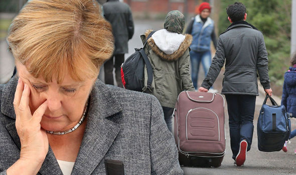 German chancellor Angela Merkel attends an election campaign of the Christian Democratic Union