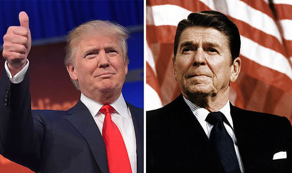 Donald Trump and Ronald Reagan