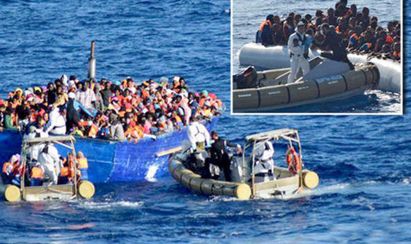 Migrants from North Libya being rescued last year