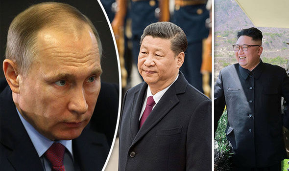 Russia and China could unite over tensions with the US and North Korea, an expert warned