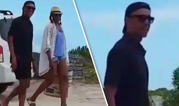 Obamas on Necker Island