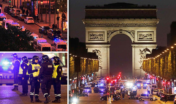 Paris shooting- police officers have been injured in a shooting at the Champs Elysees
