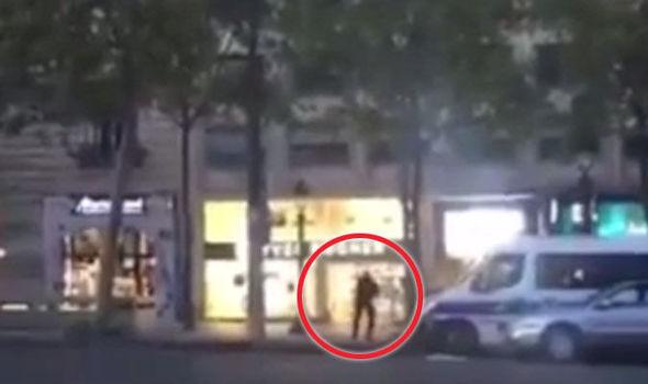 Paris shooting: Officer seen in new footage