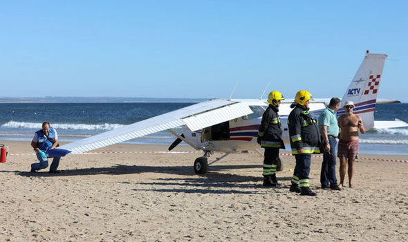 Portugal plane crash two dead
