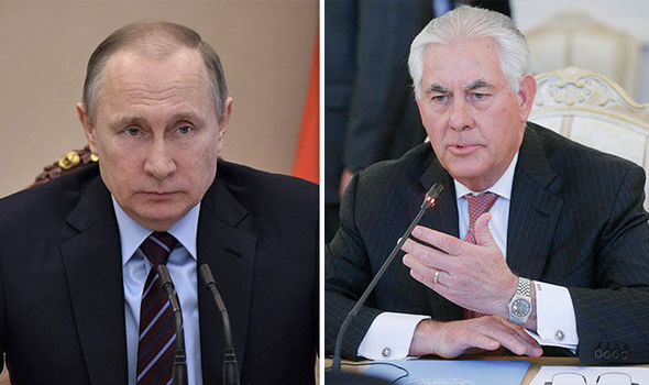 Vladimir Putin meets US Secretary of State Rex Tillerson in Moscow