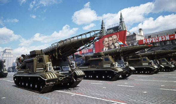 Russia ICBM missiles in Moscow in 2013
