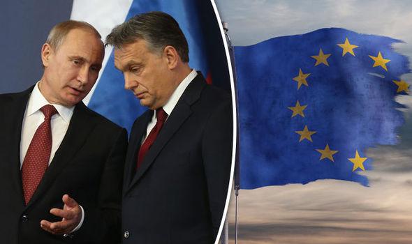 Russia Putin Hungary Orbán EU sanctions