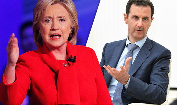 Hilary Clinton and President Assad