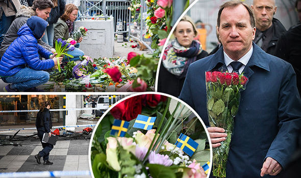 Stefan Lofven at tribute Sweden