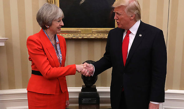 Theresa May and Donald Trump moulding firm ties