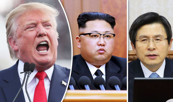 Trump, Kim Jong-un and Hwang Kyo-ahn