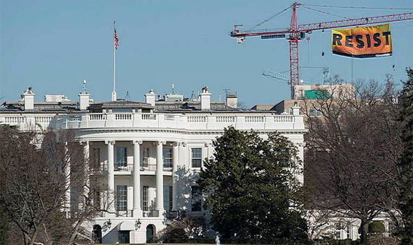Crane in Washington