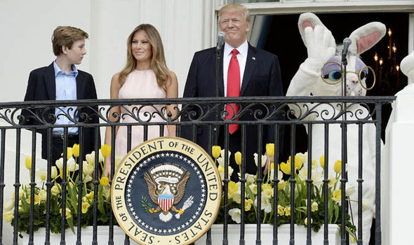 White House Easter Egg roll Donald Melania Trump