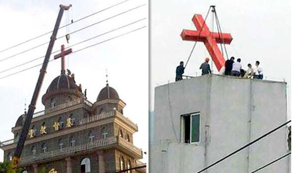 Crosses being removed in China