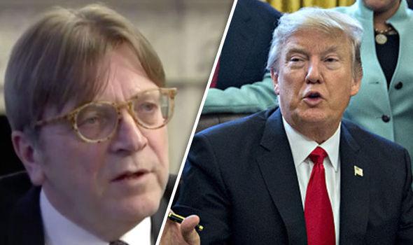 Guy Verhofstadt and Donald Trump