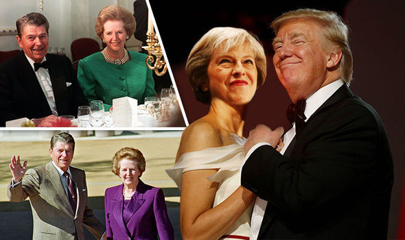 Donald Trump, Theresa May, Margaret Thatcher, Ronald Raegan