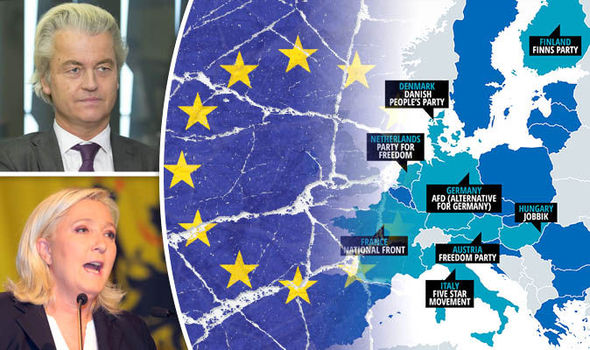 Anti EU parties MAPPED  Who are the Eurosceptics trying break up the     Map of anti EU parties