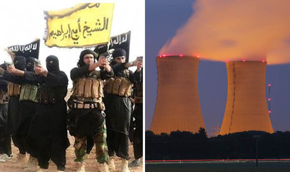 ISIS fighters and a nuclear power plant